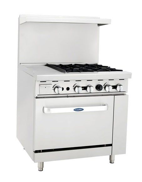 Atosa Ato 12g4b 36 Amp Quot Gas Range 4 Open Burners With 12 Amp Quot Left Griddle And 1 26 1 2 Amp Quot Oven With Images Stainless Steel Griddle Gas Range Hotplates