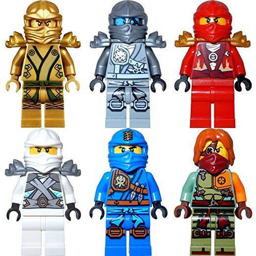 Ausmalbilder Ninjago Gesicht: LEGO Ninjago 6er Figurenset Ultimate 4