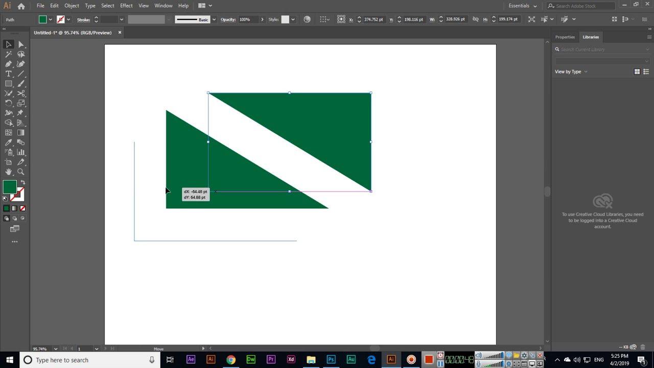 Scissors Tool Adobe Illustrator CC 2019 Adobe
