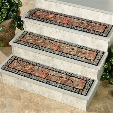Tuscany Ii Moss Outdoor Stair Treads Outdoor Stairs Stair Tread   Stair Treads For Outdoor Steps   Stone   Stair Railing   Stair Stringers   Slip Resistant   Non Slip