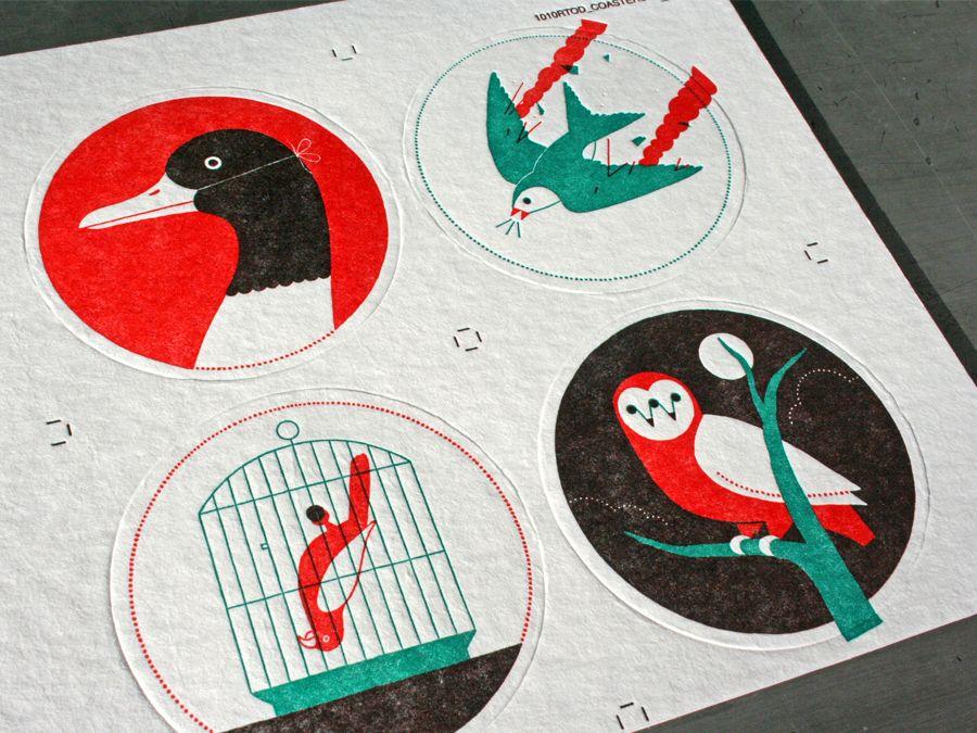 Aviary Coasters