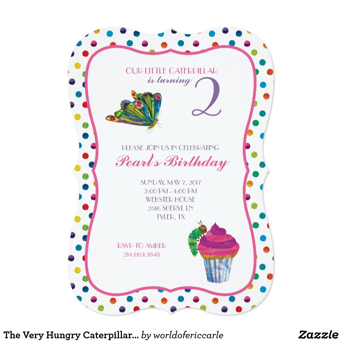 The Very Hungry Caterpillar Butterfly Birthday Card Butterfly