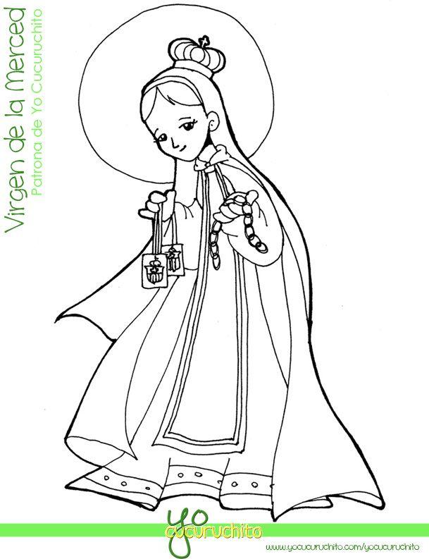Virgen Del Rosario Caricatura Buscar Con Google Virgen De Las