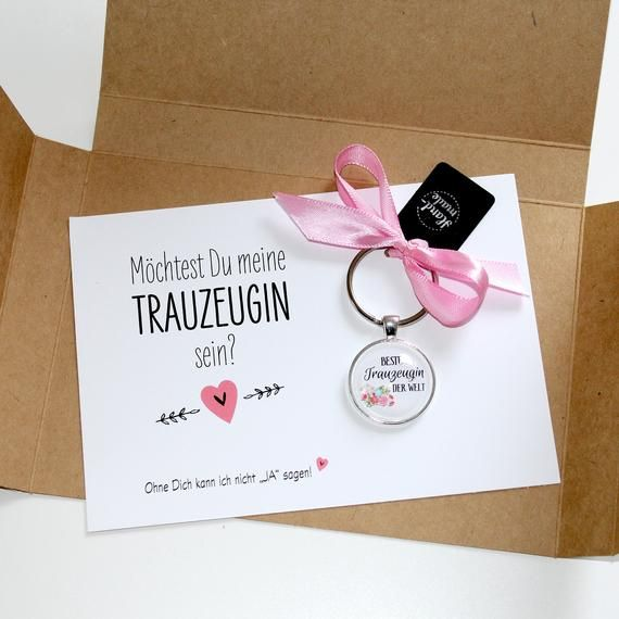 Wedding Witness Gifts: Maid Of The Gift, Wedding, Key Fob With Card, Marriage