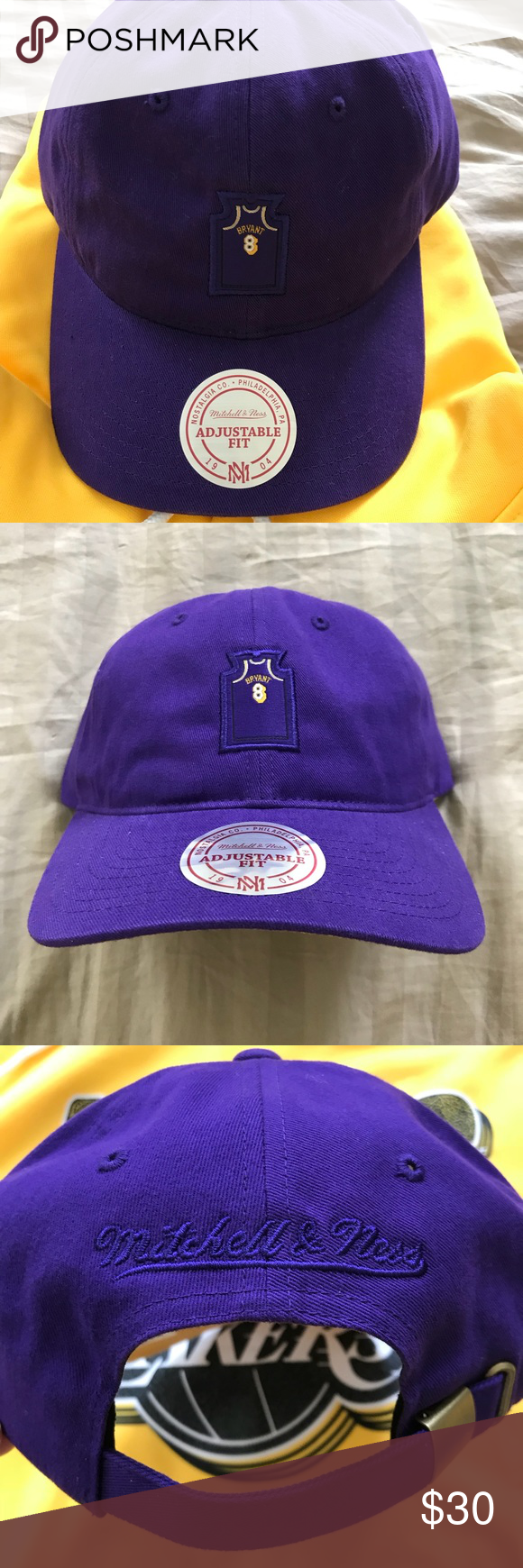 8da24038752eb Mitchell   Ness Lakers Kobe Bryant  8 Strap Back NBA Hardwood Classics  Mitchell   Ness