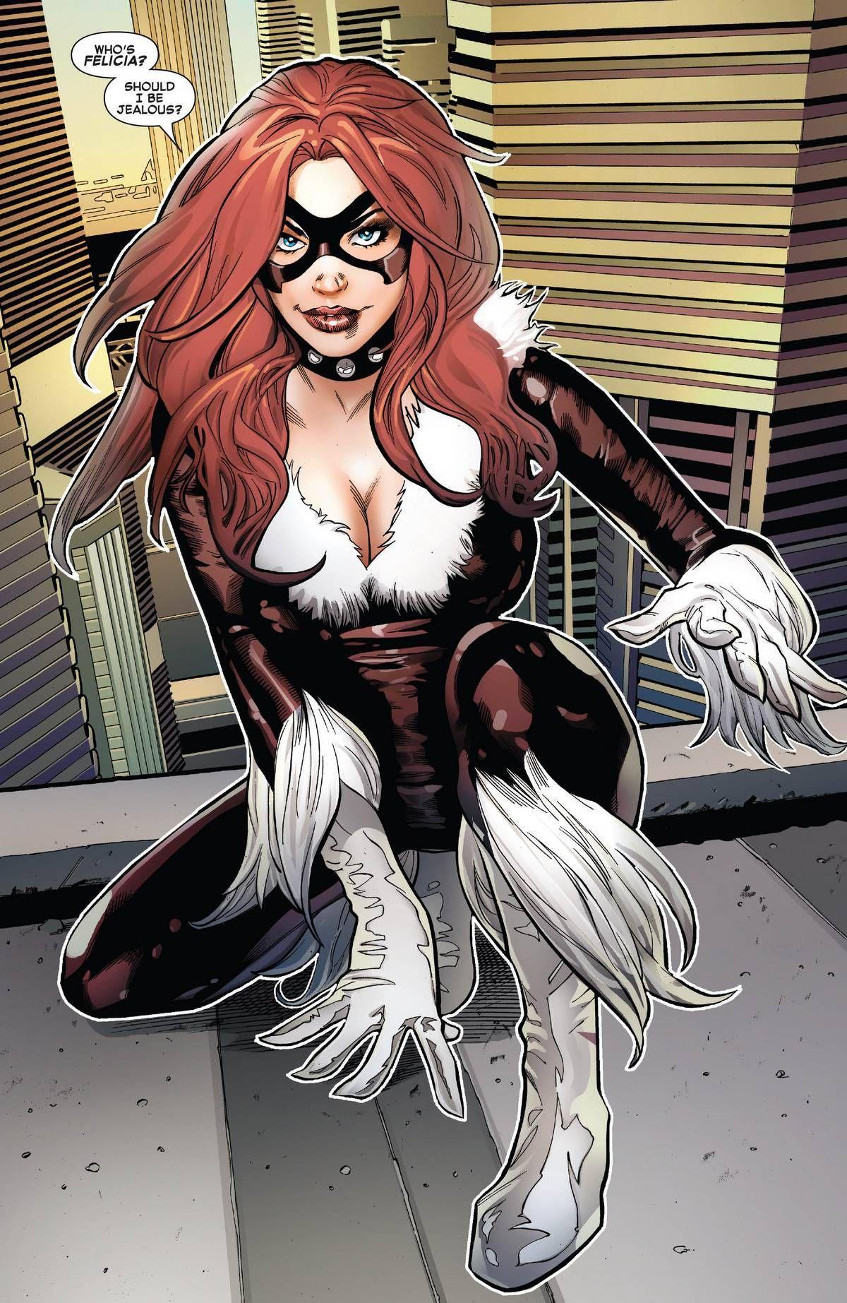 New Comic Book Art! in 2020 Black cat marvel, Character