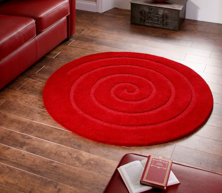 Round Red Area Rug Small Size