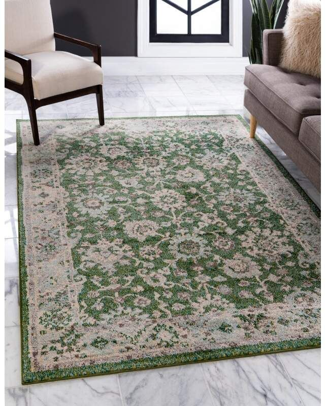 Gray And Green Area Rug 8x10