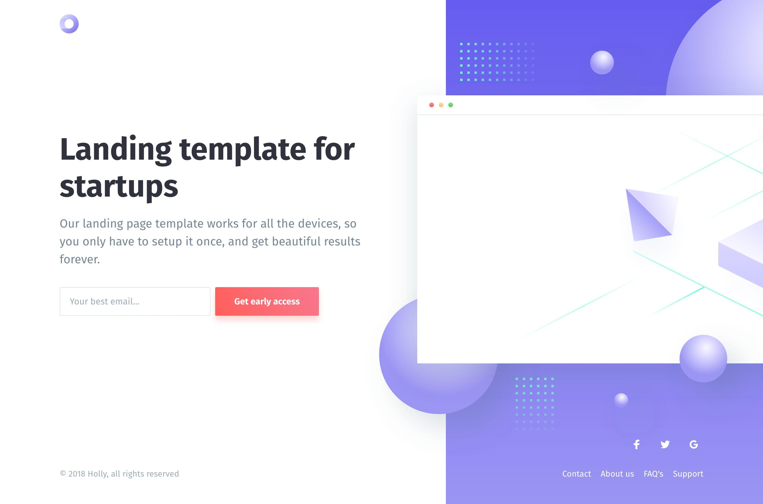 Holly Is A Free Launching Soon Html Template By Cruip The
