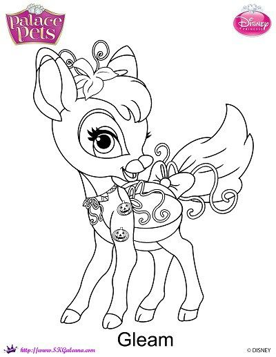 Halloween Coloring Page Featuring Gleam From Princess Palace Pets By SKGaleana