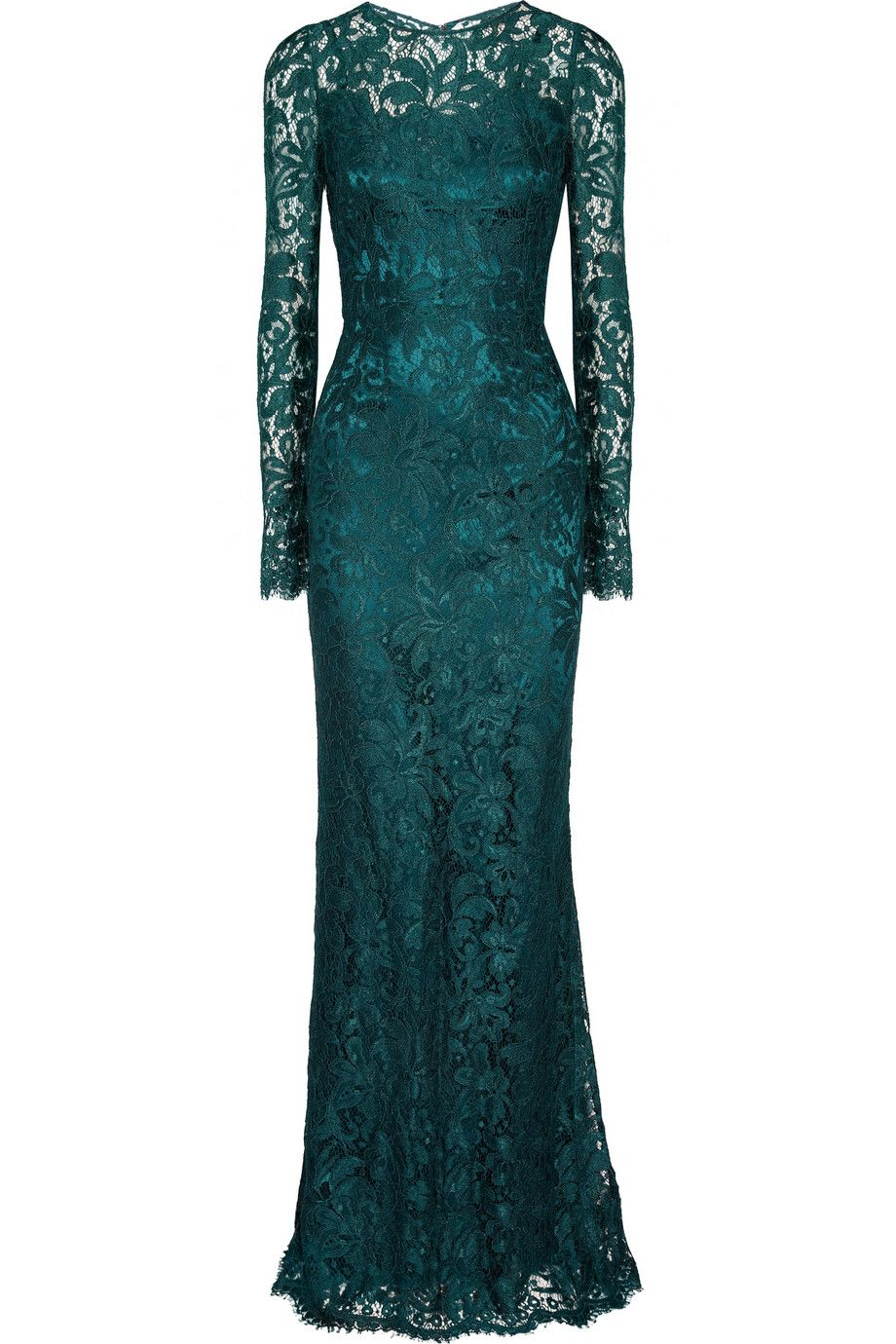 Dolce & GabbanaLace gown.