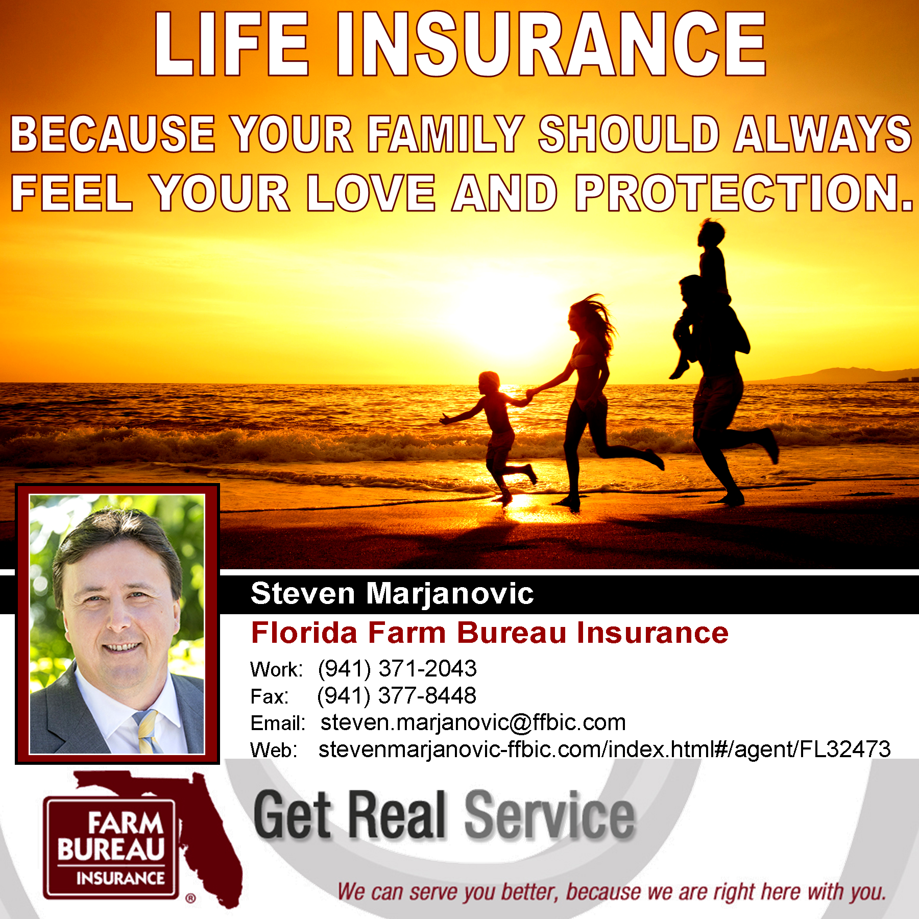 Steven Marjanovic Agent Florida Farm Bureau Address 7289 Palmer