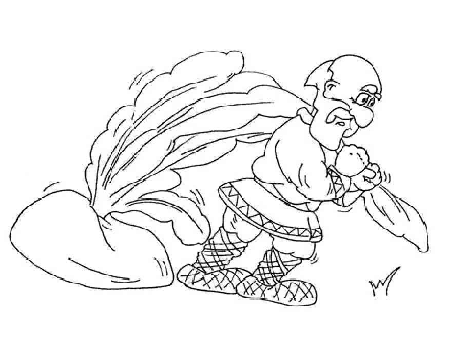 картинки раскраски к сказке репка для детей