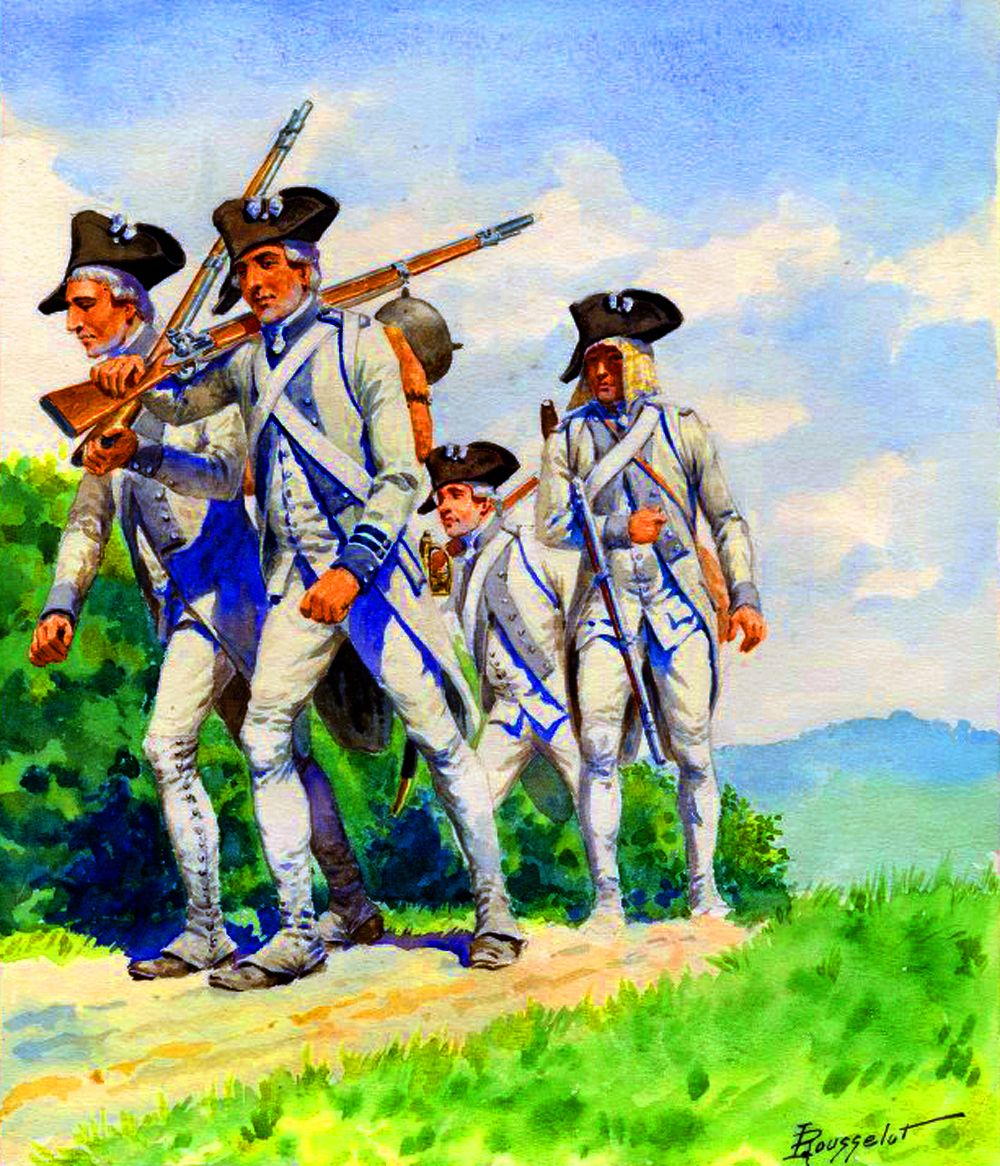 French Infantry De Brie Line Regiment Of King Louis Xvi