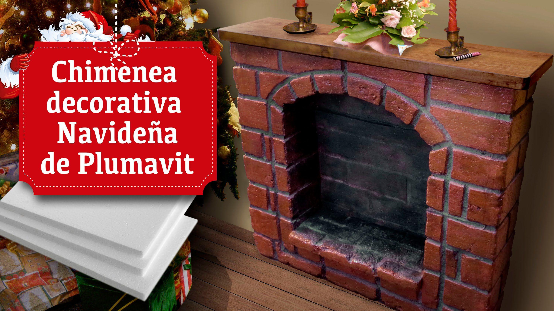 Chimenea decorativa navide a de plumavit navidad pinterest chimenea decorativa navidad y - Chimeneas artificiales decorativas ...