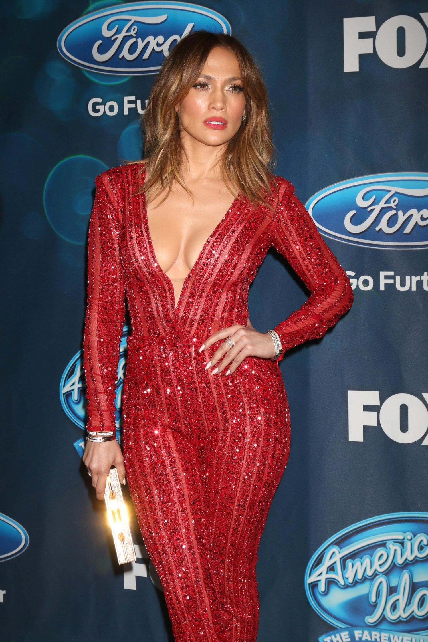 """Jennifer Lopez – """"American Idol XV"""" Finalists Event in West Hollywood"""