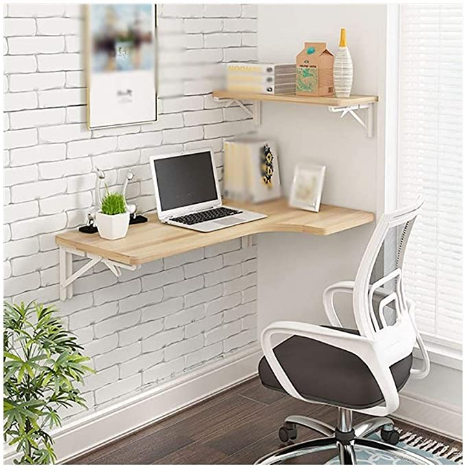 Amazon Com Ajzgf Workspace Organizer Folding Table Wall Mounted Desk L Shaped Desk Corner Compute In 2020 Desks For Small Spaces Small Wall Desk Desk In Living Room