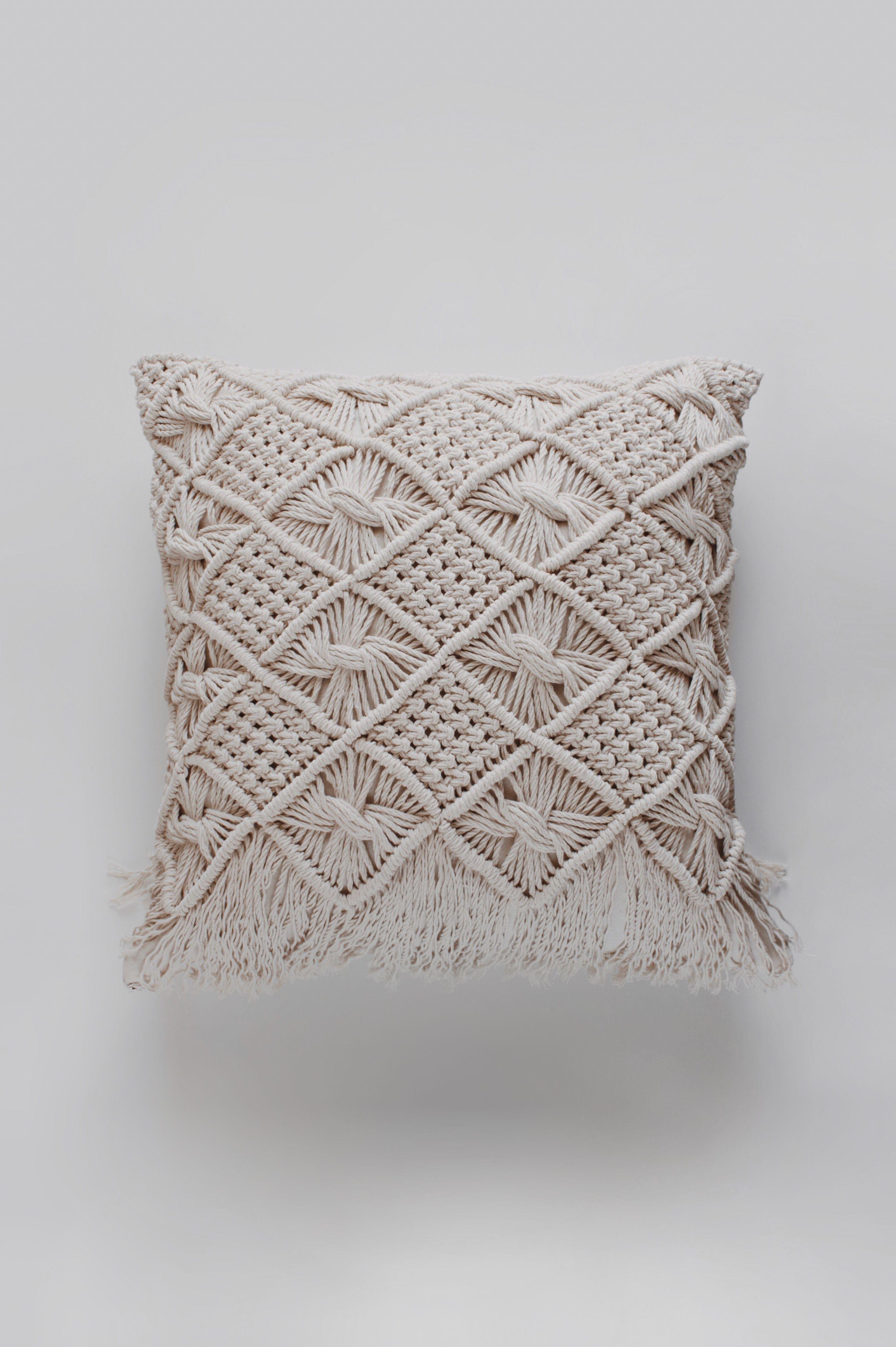 Macrame Pillow Throw Pillow Decorative Pillow Modern Etsy Pillow Cases Diy Pillows Decorative Diy Diy Pillows