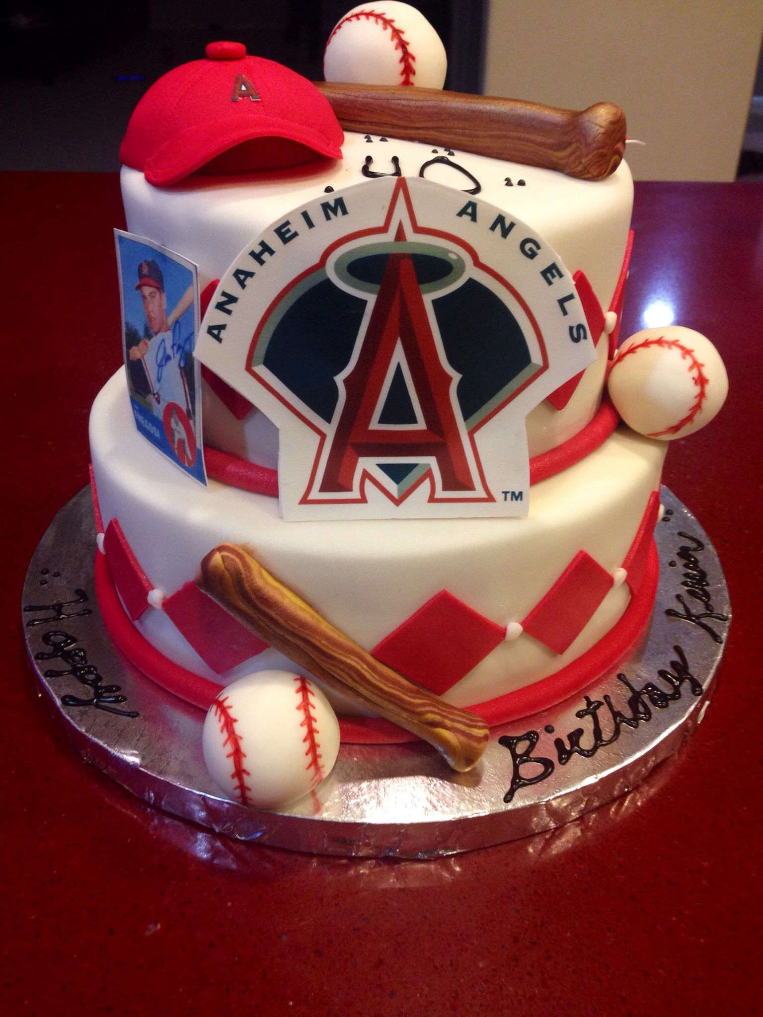 angels baseball birthday cake