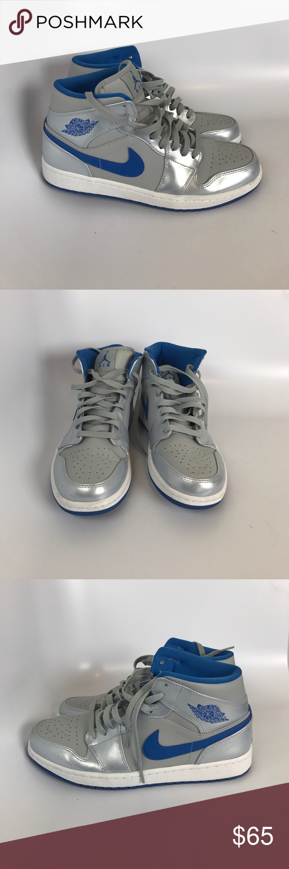 da9e8295d02f47 Air Jordan 1 Mid Style  554724-025 Condition 7 10 W O Box 100% Authentic  Offers are accepted Air Jordan Shoes Sneakers