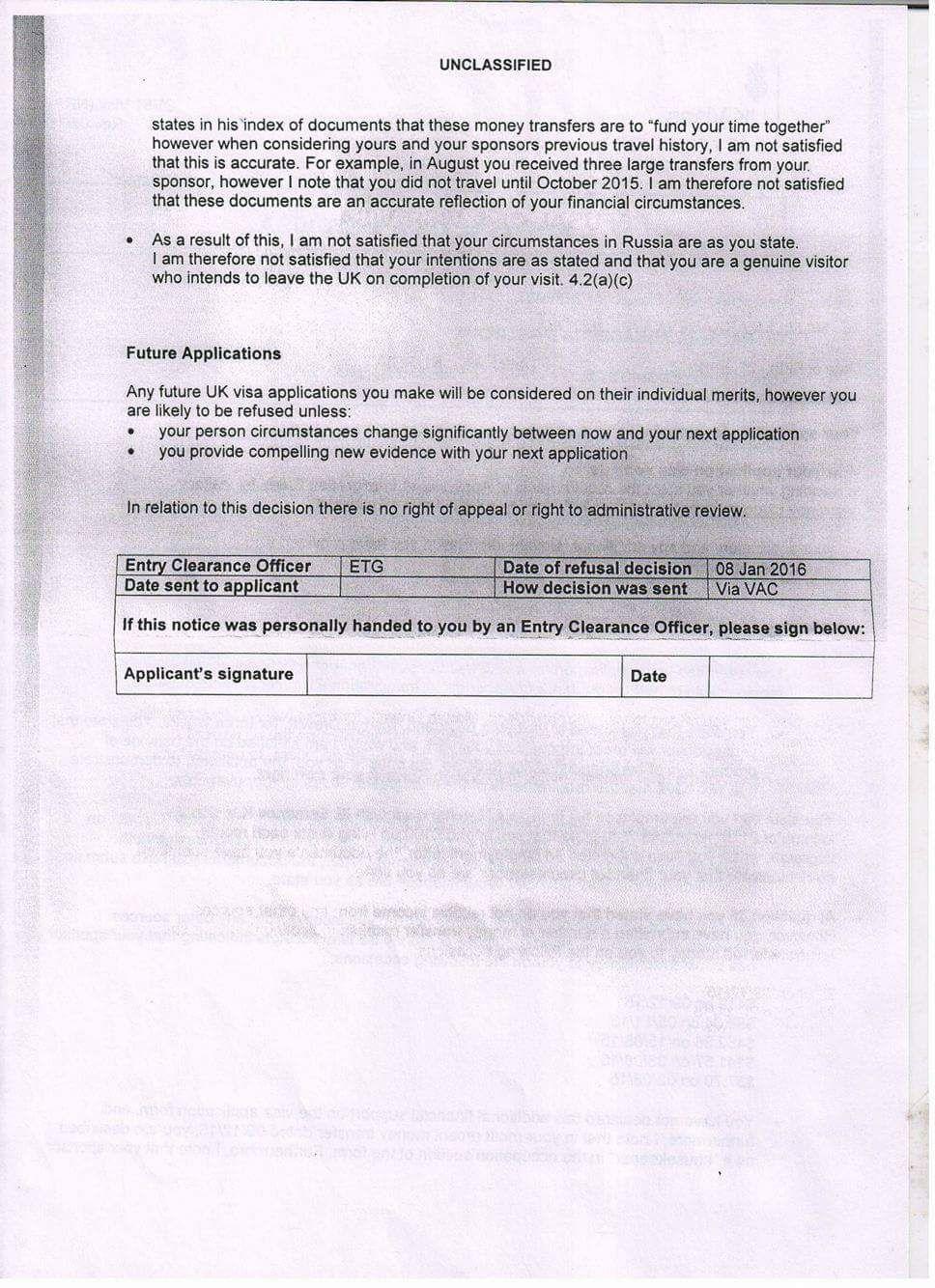 Uk Visa Refusal Letters Http Save Btsa Co Uk Visa Refusal