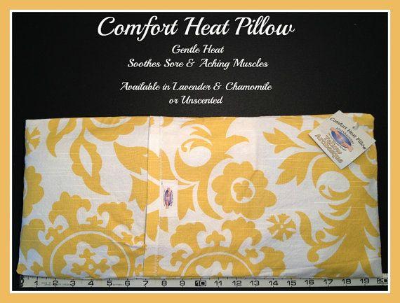 NiaMassage Comfort Heat Pillow - Yellow Arabesque