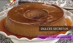 Crema Volteada De Chocolate Desserts Baked Fruit Baking