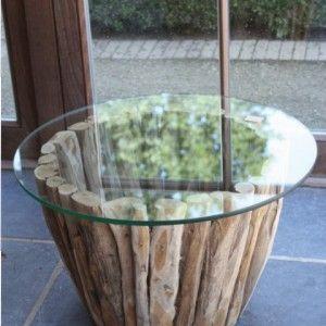 Houten Bijzettafel Met Glazen Blad.Tafel Klein Bijzettafel Hout Sticks Glazen Blad Www Bass