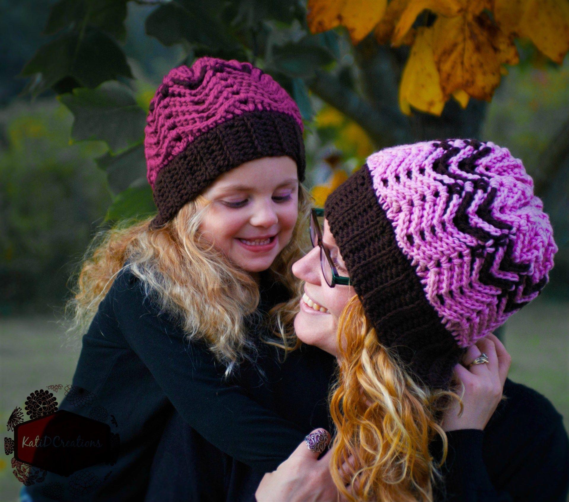 Chevron Beanie - free crochet pattern at KatiDCreations. | DIY3 ...