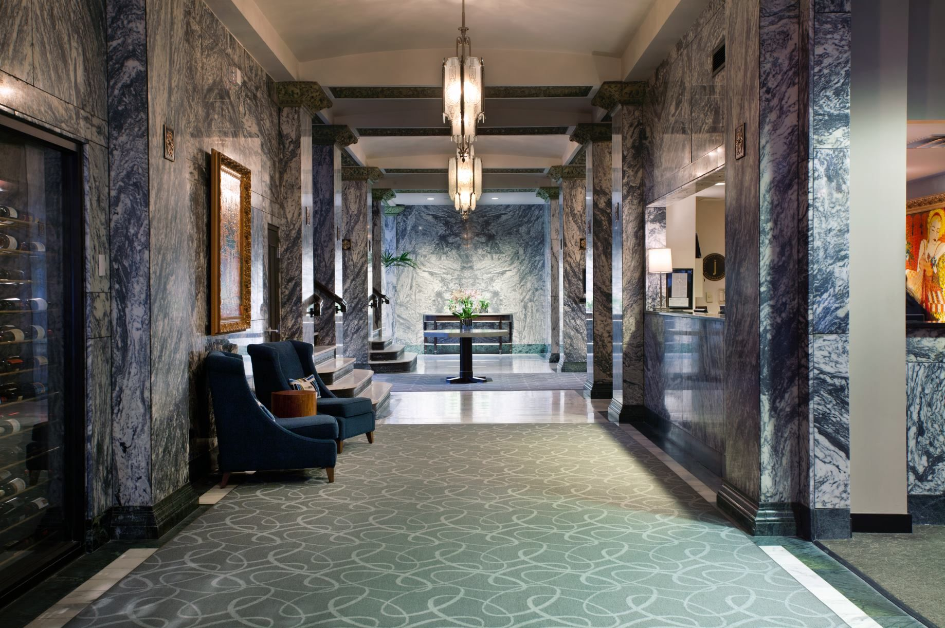 The Hotel Lobby At Colcord Hotel In Downtown Oklahoma City