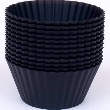 Black Silicone Cupcake Liners For Car Cup Holders Silicone