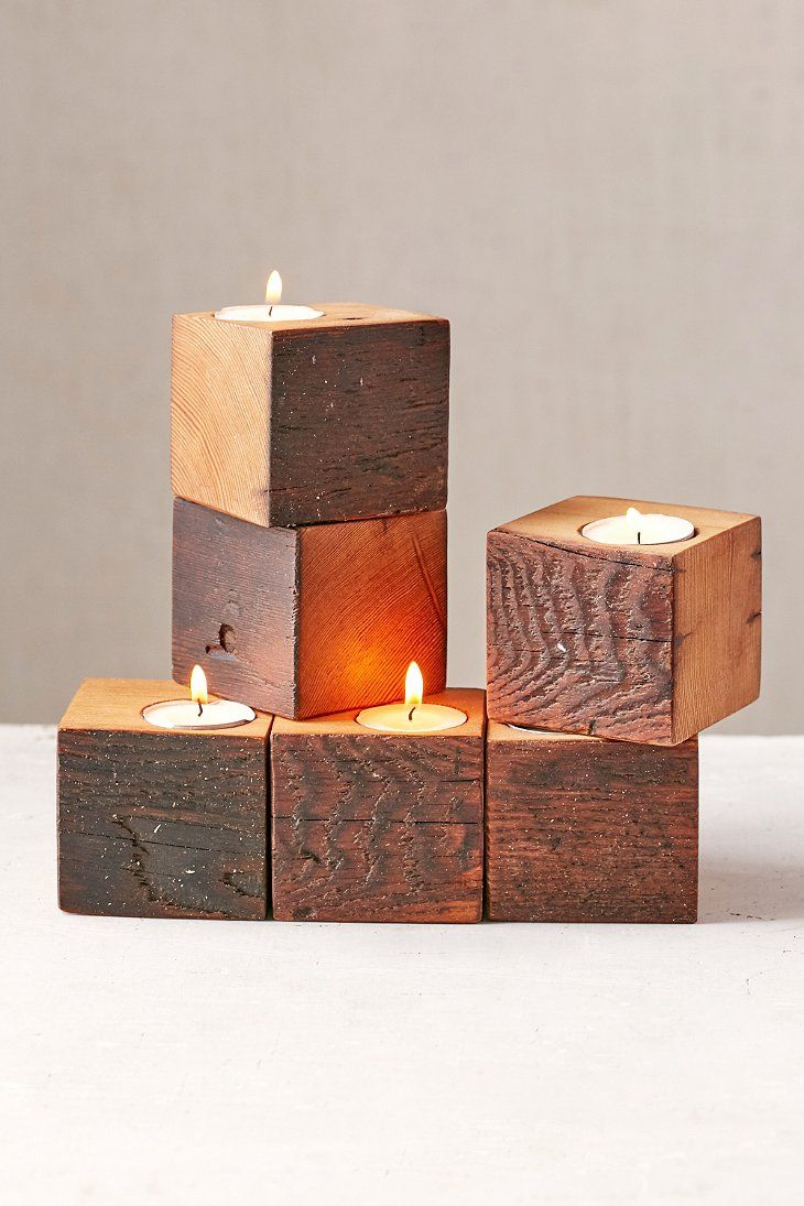 Farmhaus firewood single candle holder urban outfitters pretty