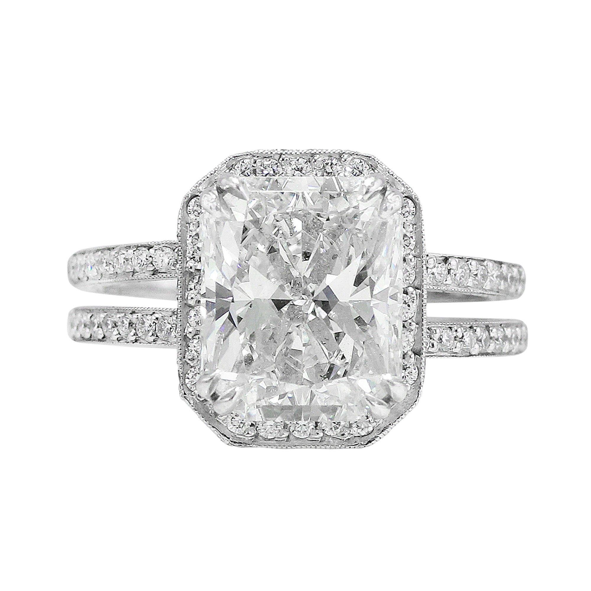 Ct internally flawless radiant cut diamond ring diamond rings