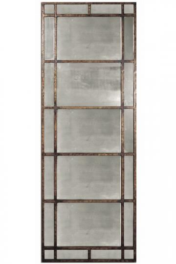"""Avidan Leaner Mirror - Frame in antique gold finish. Can be hung horizontally or vertically or leaned against a wall - 79.5""""H x 28.5""""W x 1""""D."""