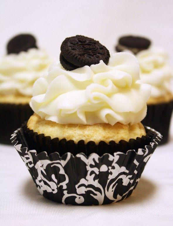 White Chocolate Oreo Cream Filled Cupcakes Recipe Recipe