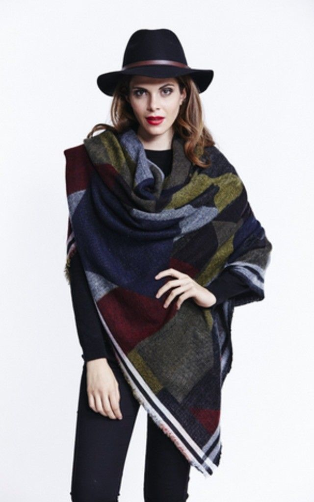 Print Blanket Wrap Scarf - SilkFred