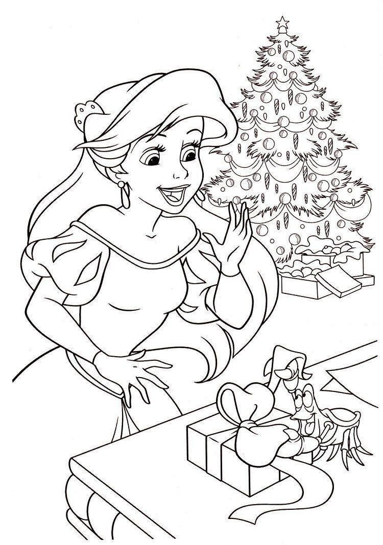 Coloriage de Noël Disney à imprimer gratuitement !  Coloriage