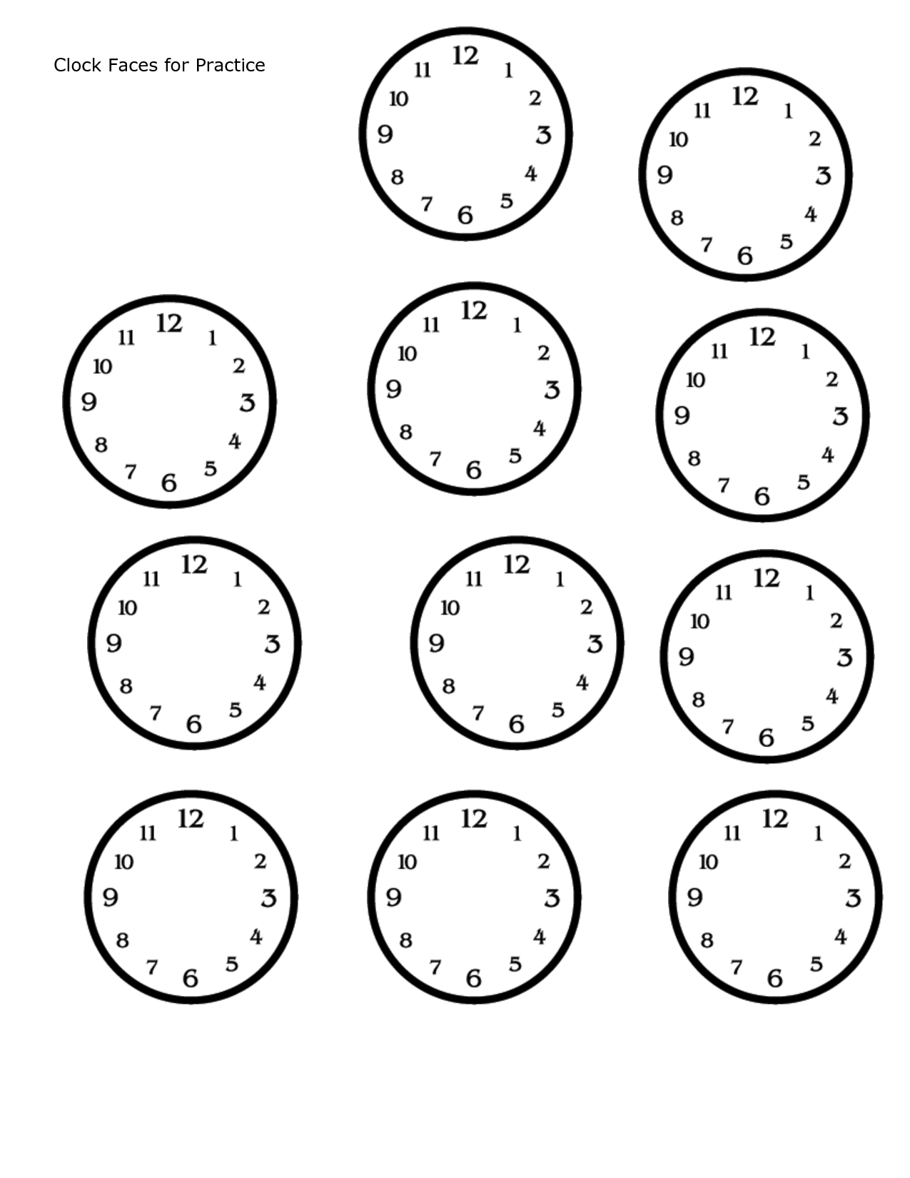 Worksheets Blank Clock Worksheets blank clock faces cc all cycles pinterest math faces