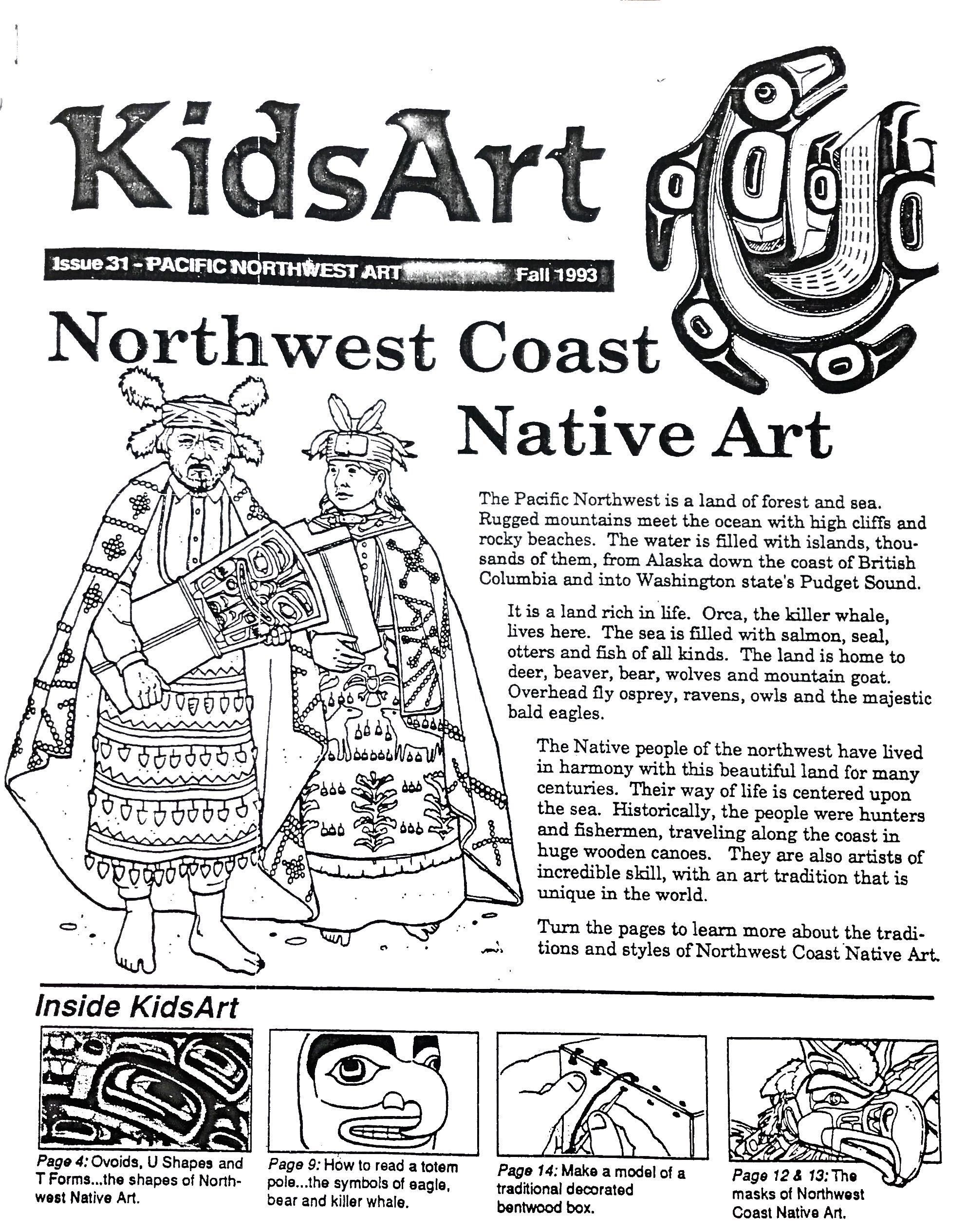 Northwest coast na art packet elementary art education northwest coast native art booklet for younger art students buycottarizona