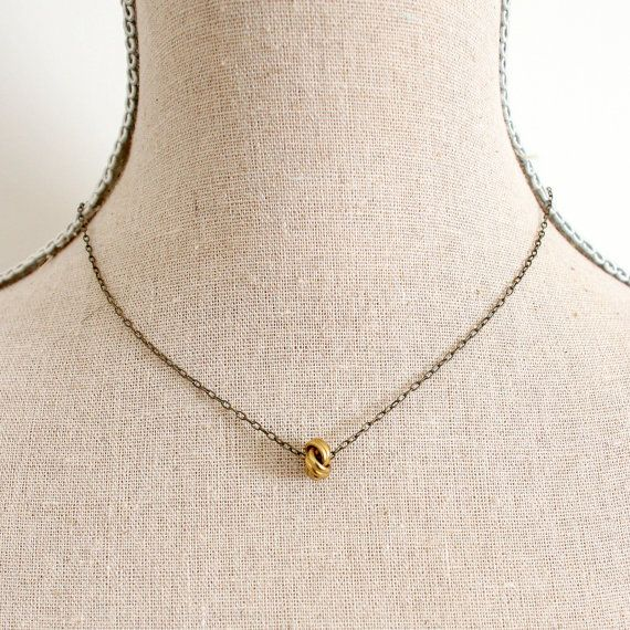 @Andi Casa - this reminds me of your earrings -  Love Knot Charm Necklace by NestPrettyThingsShop, $28.00
