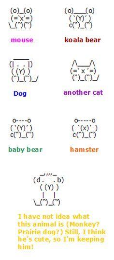 cute keyboard animals