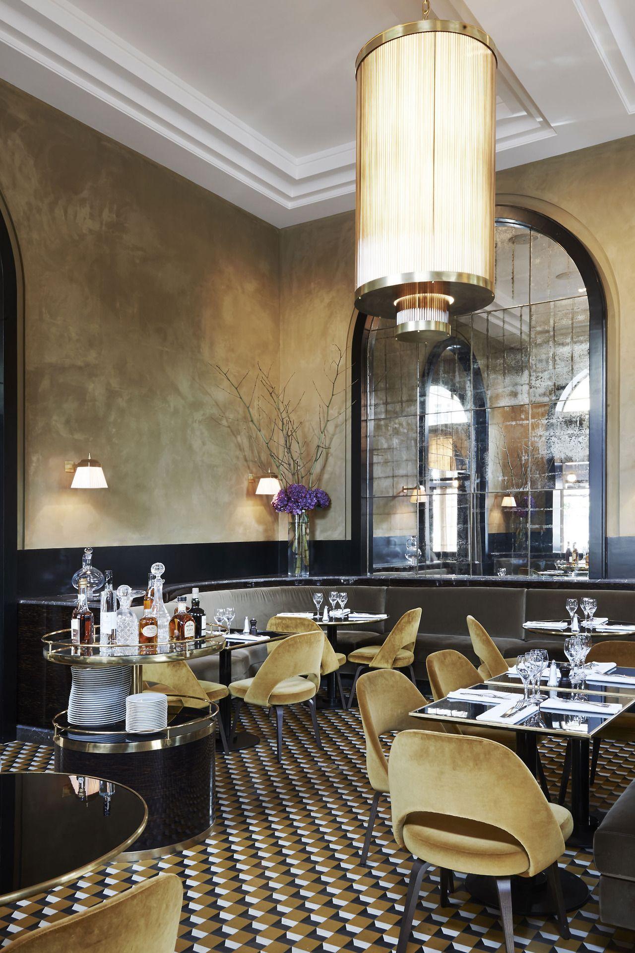 Joseph dirand redesigns le flandrin restaurant in paris for Innendekoration restaurant