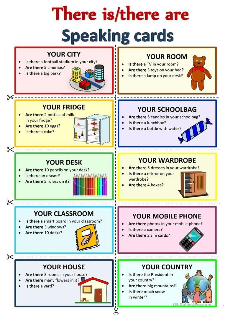 There is/there are speaking cards worksheet free esl