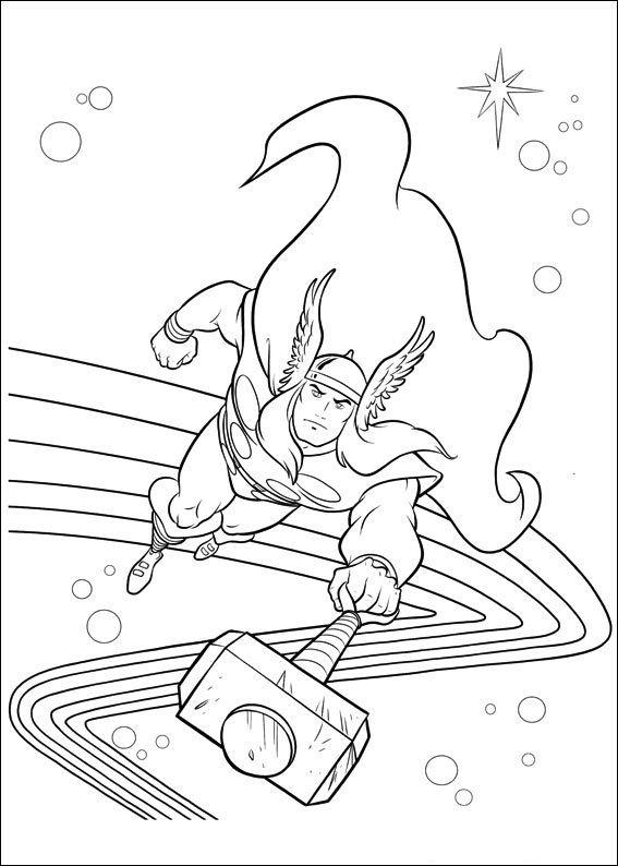 Dibujos para Colorear Thor 15 | Dibujos para colorear para niños ...