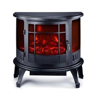 Homcom 23 1500w Free Standing Electric Fireplace Black Free