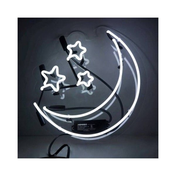 Oliver Gal Moon And Stars Neon Sign White By EUR270