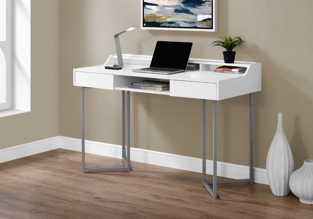 Monarch Specialties Inc Monarch Specialties Computer Desk Walmart Canada In 2020 Desk With Drawers White Computer Desk Computer Desk