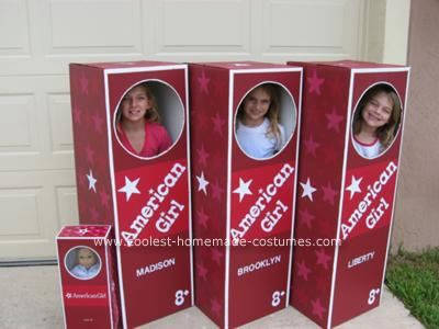 Homemade American Girl Dolls Halloween Costumes - This is a fantastic DIY for Your (AG) Doll-Lover --OR-- a wonderful photo-booth for your next American Girl Doll Party.  Click the picture for instructions to make this fab costume!