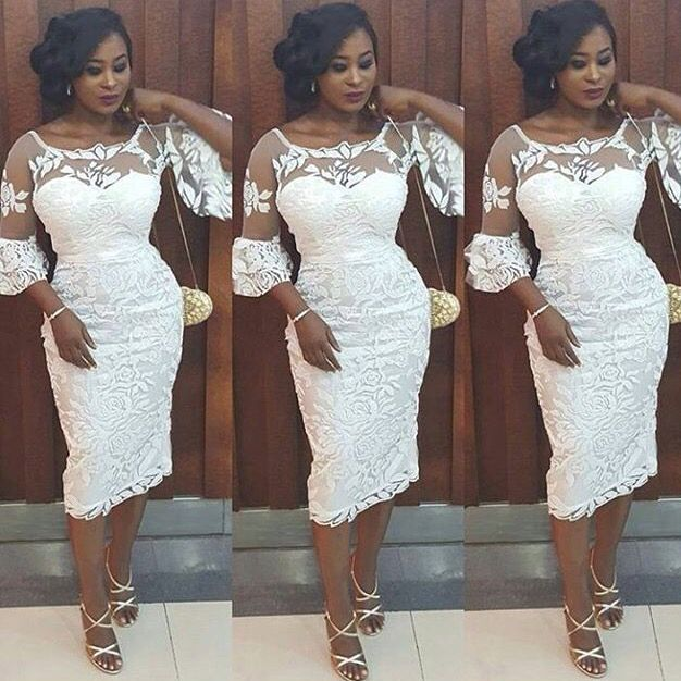 Pin By Keturah On New Me African Lace Dresses Lace Dress Styles Lace White Dress