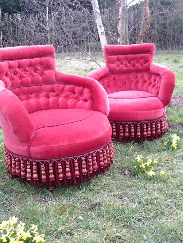 Tooooo jazzy? I don't think so!! upcycled armchairs from @Horsehandhair/VWhite #UpcycledHour